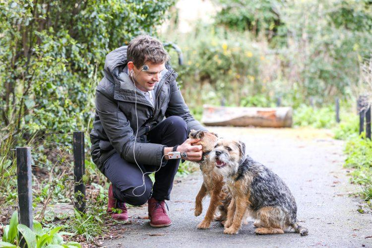 Dogwalkers experienced a seven per cent boost in mood