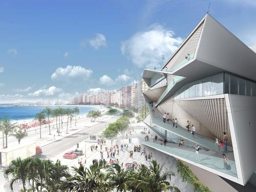 Once complete, the museum will offer panoramic views of the Copacabana beach