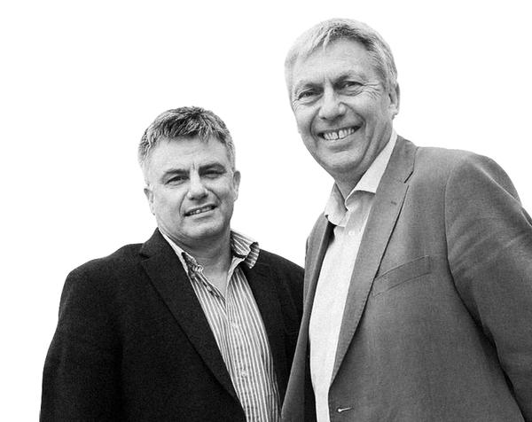 Paul Breed, CEO of Coventry Sports Foundation (left) and David Moorcroft