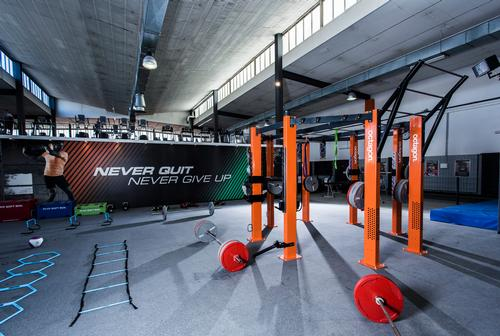 The functional training space has been equipped by Escape, including an Octagon as well as kettlebells, CoreBags and Bulgarian bags, plus a full SAQ range