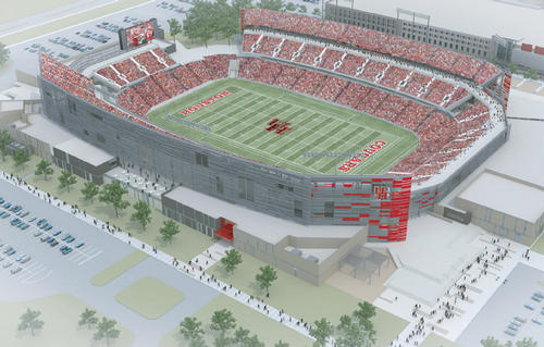 The 40,000-seat stadium is set to hold its first game in August 2014