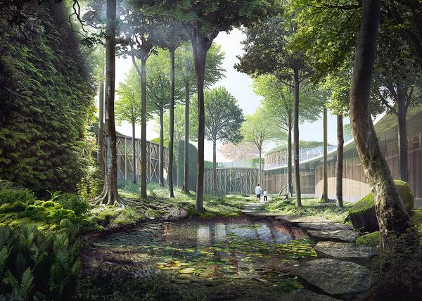 Kuma's designs for the new Hans Christian Andersen Museum in Odense feature green roofs