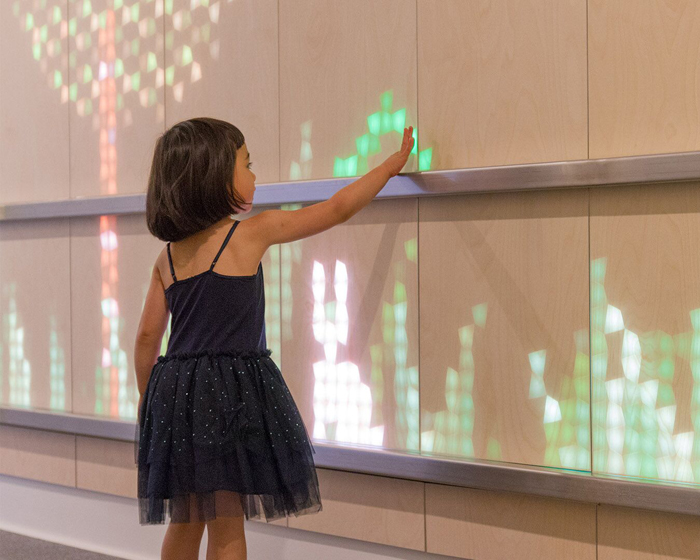 Eness interactive panel creates magic in mundane spaces