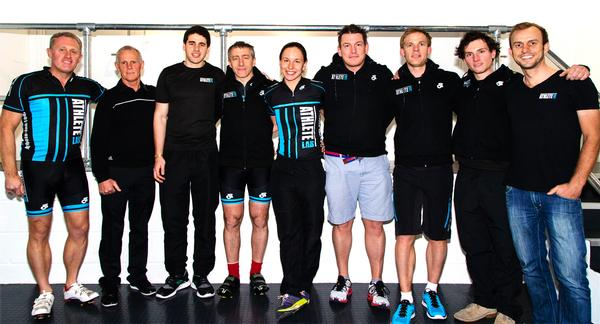 British Cycling's Shane Sutton (second from left) has joined the team at Athlete Lab, bringing elite expertise to the programming