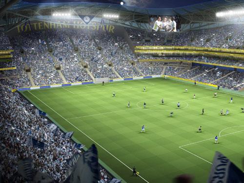 The proposed new-look White Hart Lane stadium