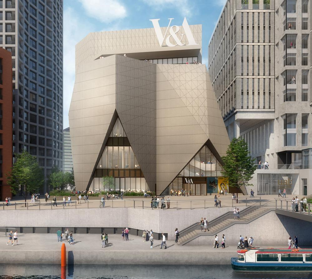 A new outpost for the V&A will be built on the site
