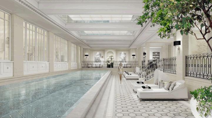 The new Le Spa is spread over 720sq m s (7,750sq ft), and has been designed by Parisian interior designer Pierre-Yves Rochon