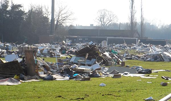 Industrial-scale fly tipping can result in very costly damage