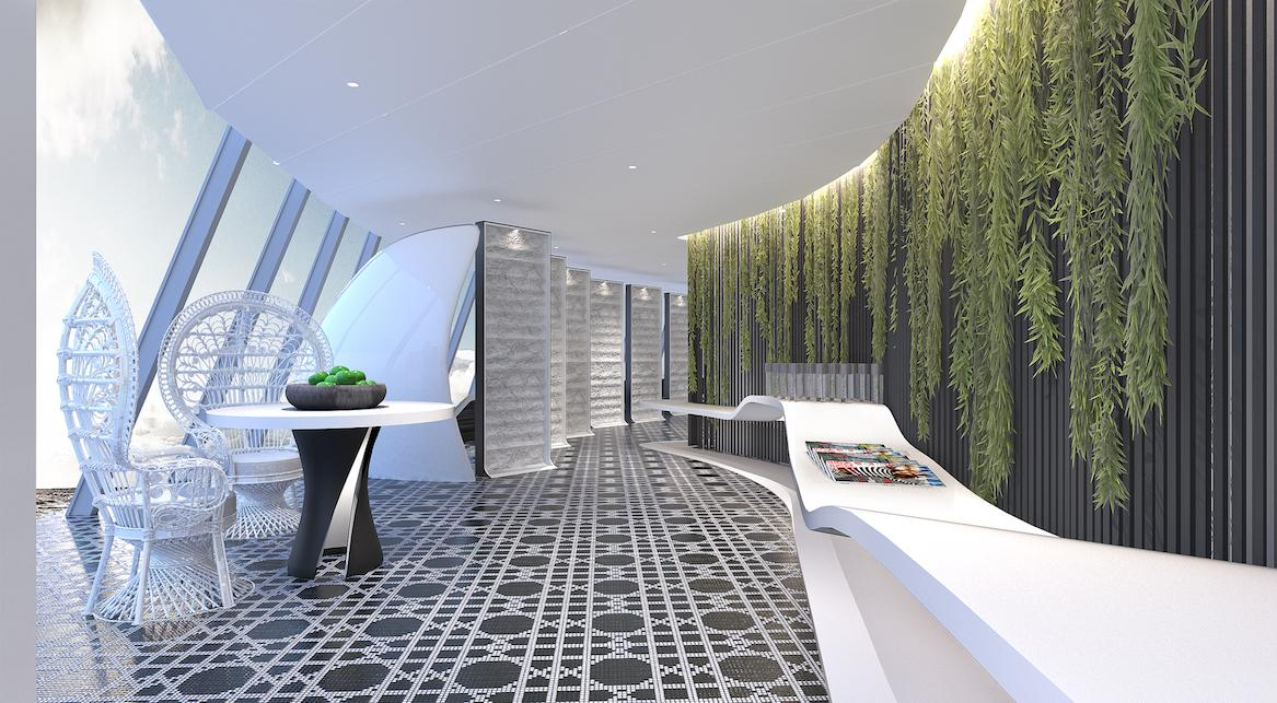 Hoppen has used natural elements in the spa's design