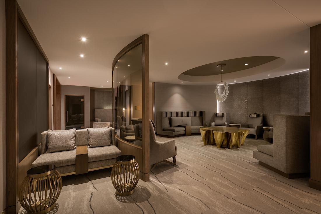A pre-treatment lounge has been created to aid in relaxation