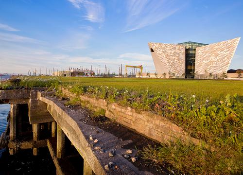 The ship is located near to the Titanic Belfast Museum