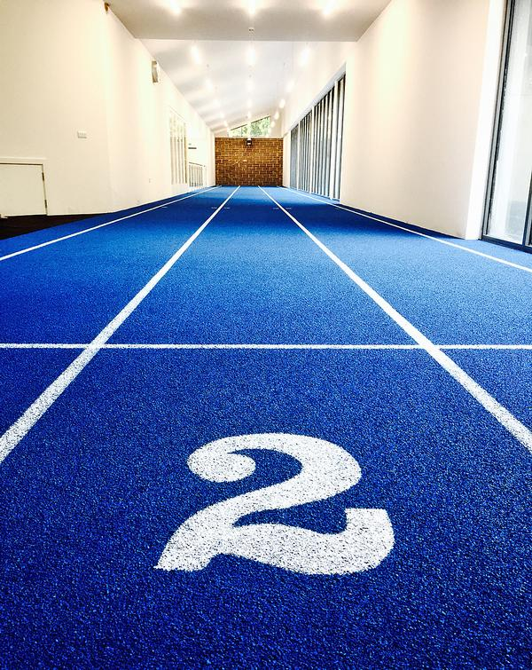 The school's extension project included a 40m sprint track
