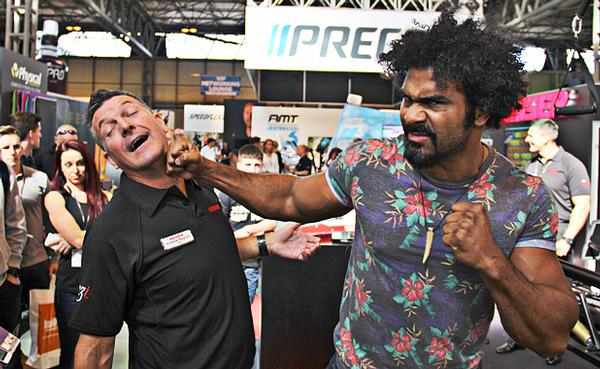 Former boxing champ David Haye making an appearance