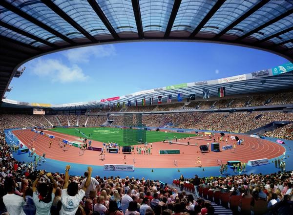 Hampden will be transformed into a first class athletics venue during the Games