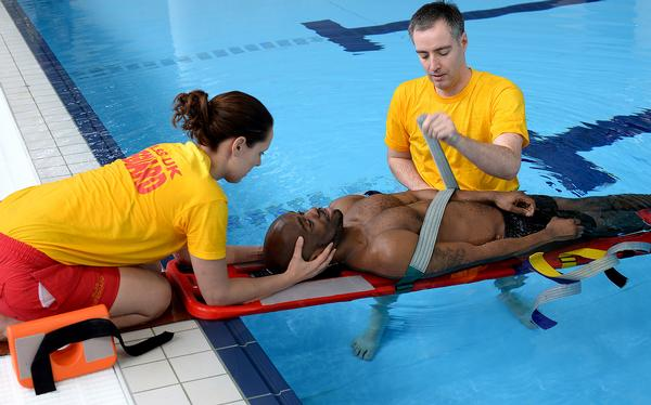 The PBX requires just two lifeguards to carry out a rescue