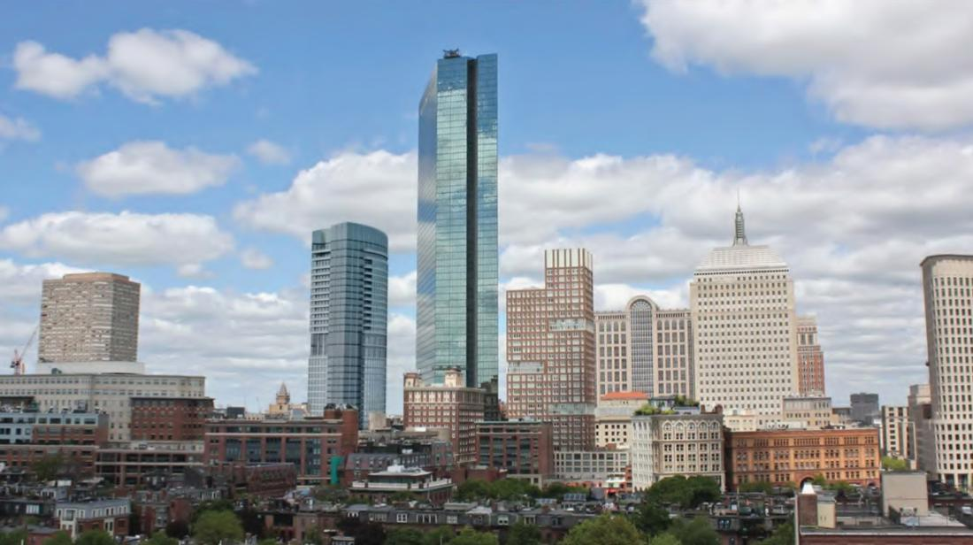 It will sit within earshot of Boston's largest building, the John Hancock Tower