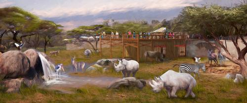 A US$1m rhino habitat broke ground last month / San Antonio Zoo