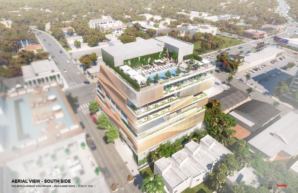West Hollywood City Council voted 4-1 in favour of the building