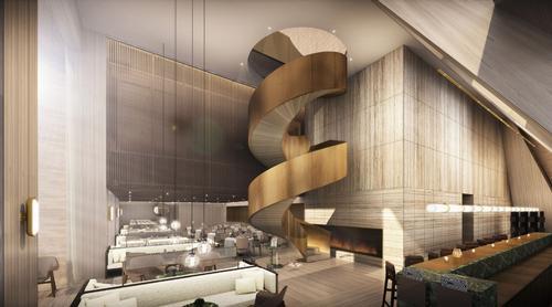The lobby of the Shanghai EDITION / courtesy of Shanghai EDITION