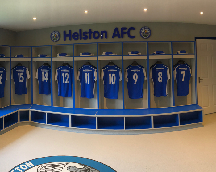 Crown Sports Lockers completes installation at Helston AFC