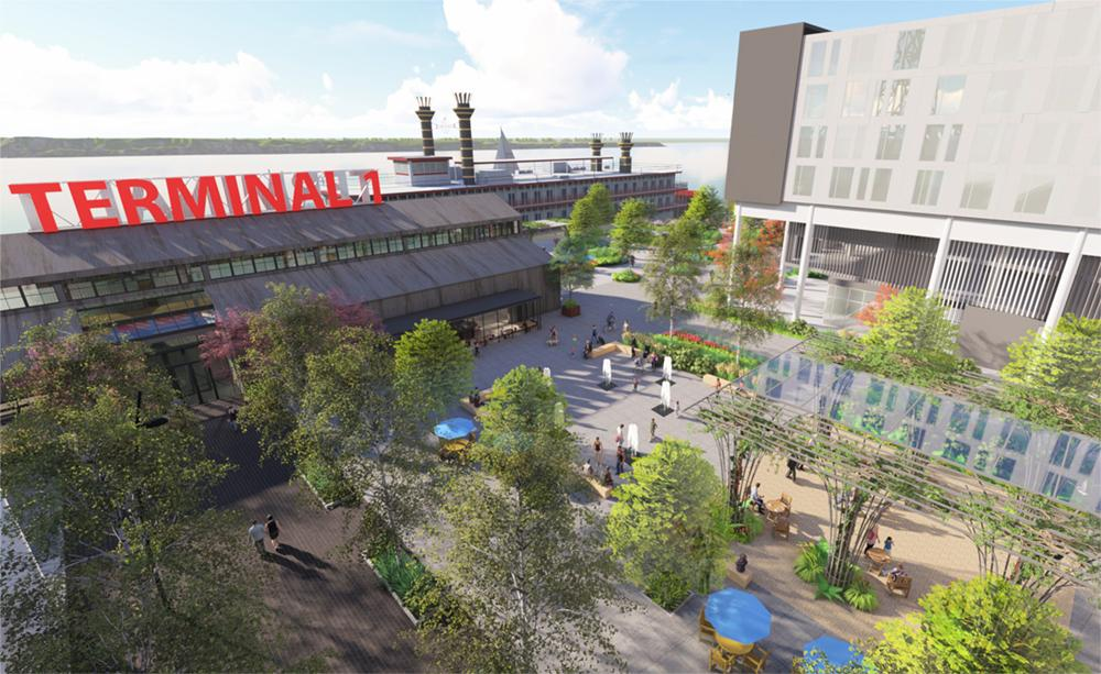 A rendering of the proposed waterfront marketplace / courtesy of Graham Baba Architects and Greenworks