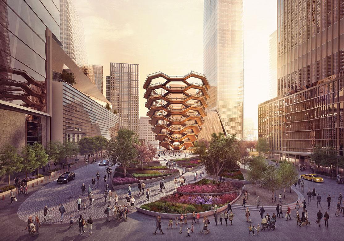 The Equinox Hotel is part of the Hudson Yards district