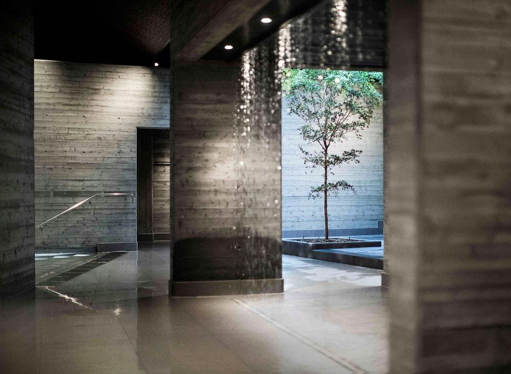 The spa was designed by Stockholm-based architectural practice DAP