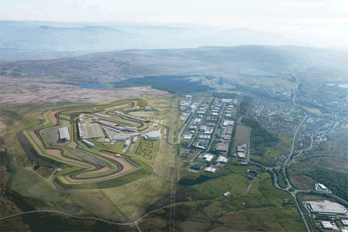 An artist's impression of the planned Circuit of Wales