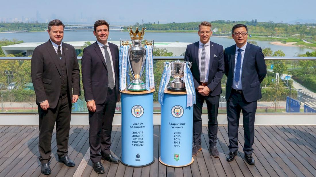 The club's announcement coincided with a four-day visit to China by Manchester mayor Andy Burnham – who attended the signing of a deal between the club and the Chinese government
