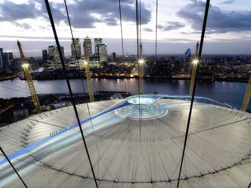 A central viewing platform will be located on top of the O2 Arena
