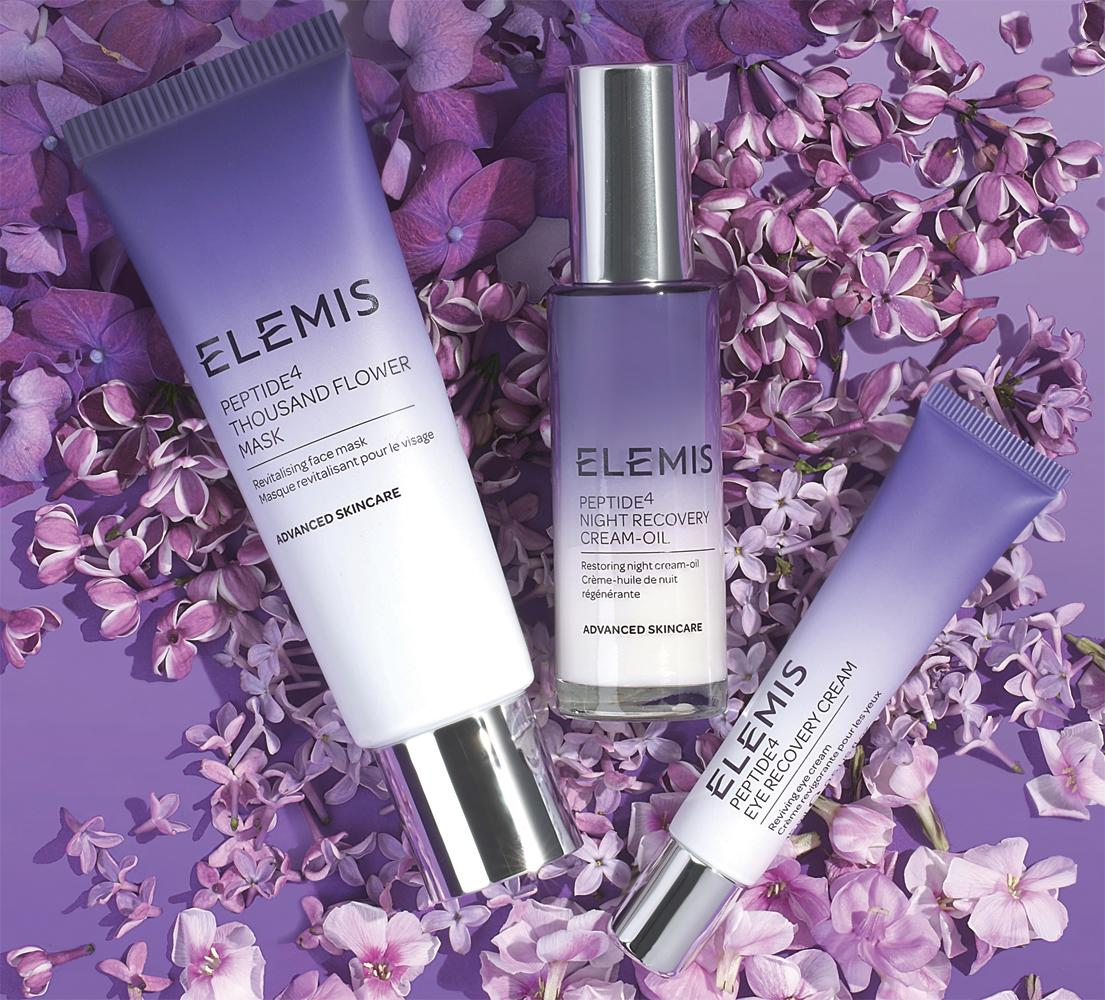 The products contain unique ingredients, cold-pressed seed oils extracted from Night Scented Stock and Star Arvensis, botanicals cultivated exclusively for Elemis by specialist agronomists