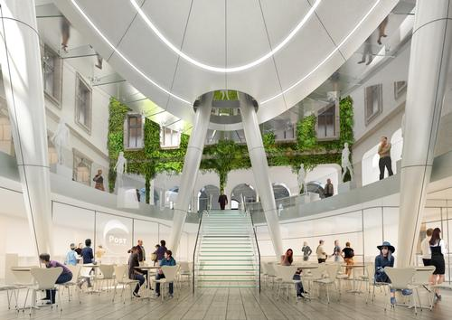 The new site will also feature organic gardens and orchards / Courtesy of Vincent Callebaut Architectures