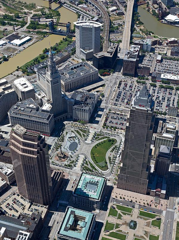 Cleveland's Public Square features a new park by JCFO