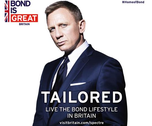 It is the third time that VisitBritain has partnered with the Bond franchise to inspire more international visitors to come to Britain