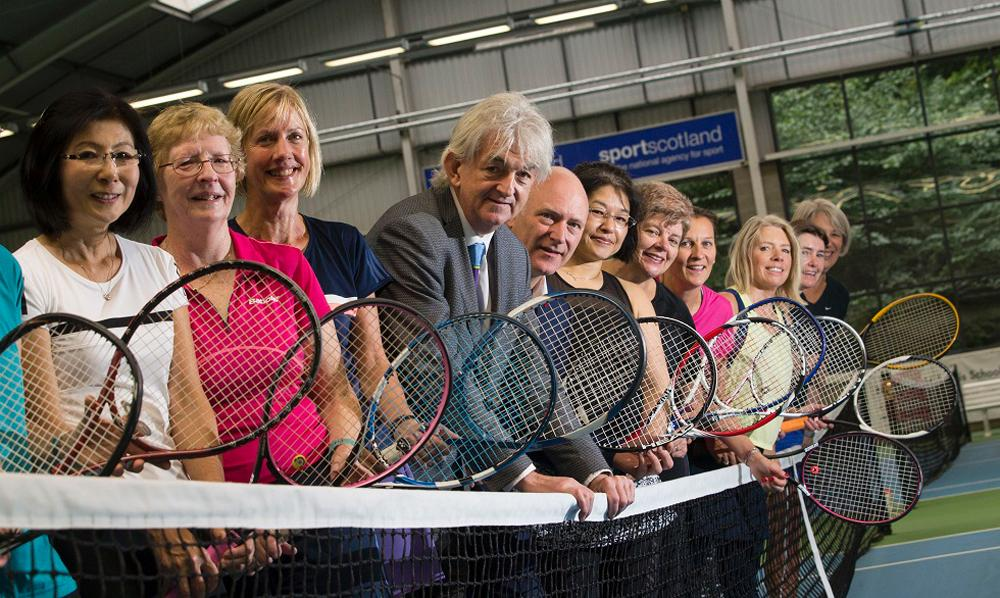 The initiative was launched by Sportscotland chair Mel Young and Scottish sports minister Joe FitzPatrick (both at the centre of the picture) / Sportscotland