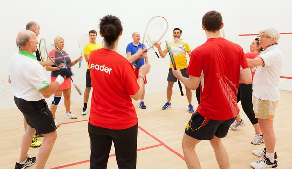 Squash 101 is a fun, social introduction to the sport, where participants learn and practice all the basic skills