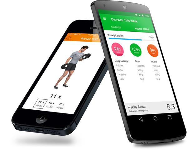 The Virtuagym apps can integrate food and fitness