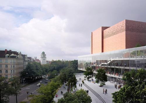 One of the most popular events hubs in Europe, the Gasteig currently attracts over 2 million visitors per year. / Henn / Visualization ME