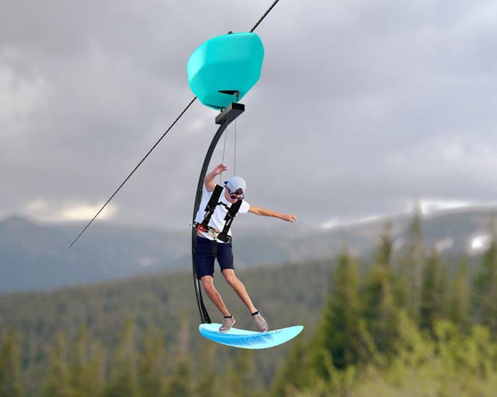 Swell ride AirSurfer set to wipe out traditional zipline