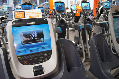 The new 880 line of Precor equipment at the easyGym club