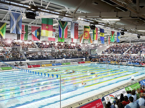 The venue will be used for swimming events at the 2014 Games