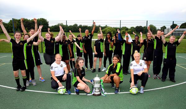 The initiative will look to utilise rolemodels such as Alex Greenwood, the Notts County Ladies defender who was part of the bronze-winning England World Cup squad this year (in white, right)