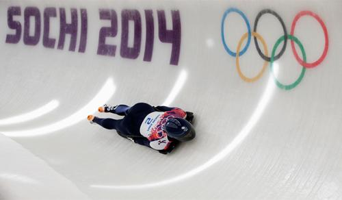 Lizzy Yarnold at the Sochi Winter Olympic Games / UK Sport