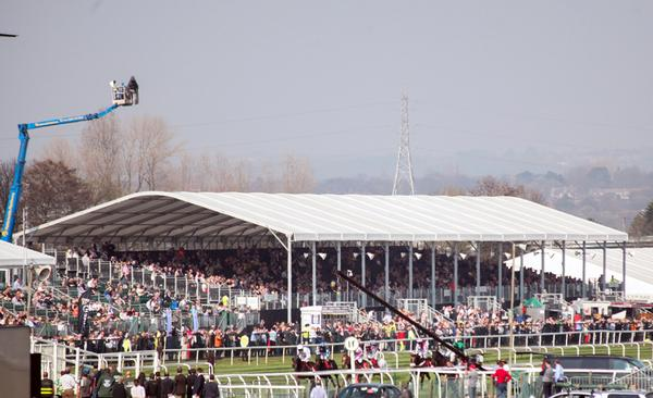 The temporary spectator structures provided nearly 6,000 seats for racegoers