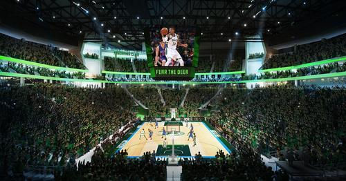 New renderings have been released of the arena's Populous-designed interior / Milwaukee Bucks