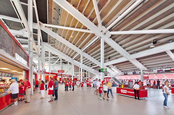 The 49ers secured the US$220m 20-year stadium naming deal with Levi Strauss & Co in 2013