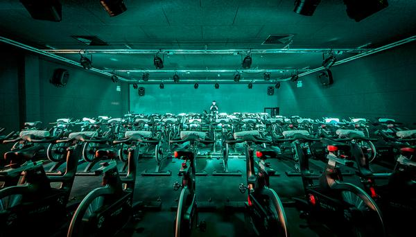 The Ride Studio is able to cater for large classes, offering 64 of the latest ICG bikes