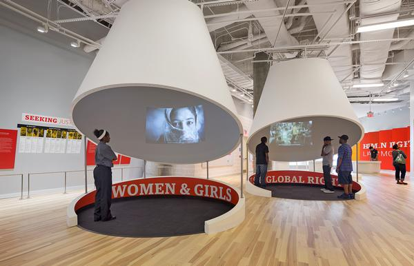 Rockwell Group designed the exhibition space at the National Centre for Civil and Human Rights with director George C Wolfe and human rights activist Jill Savitt