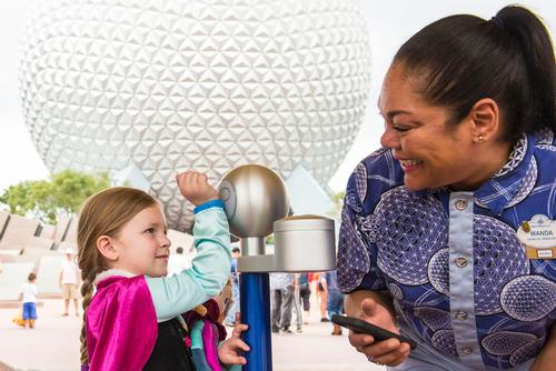 Walt Disney World Resort guests use MagicBands for park entry at Epcot in Florida / Matt Stroshane, Walt Disney World