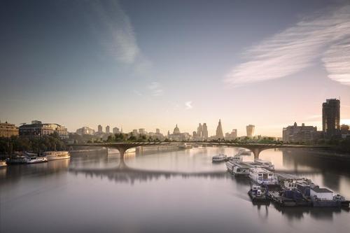 Heatherwick's proposed Garden Bridge, now in the hands of Boris Johnson / Heatherwick Studios